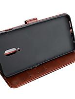 Недорогие -ASLING Кейс для Назначение OnePlus One Plus 6T Кошелек / Бумажник для карт / со стендом Чехол Однотонный Мягкий Кожа PU для One Plus 6T