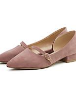 Недорогие -Жен. Искусственный мех Весна & осень На каждый день Обувь на каблуках На толстом каблуке Заостренный носок Пряжки Черный / Миндальный / Светло-Розовый