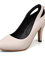 Недорогие -Жен. Полиуретан Весна Милая / Минимализм Обувь на каблуках На шпильке Заостренный носок Искусственный жемчуг Красный / Розовый / Миндальный