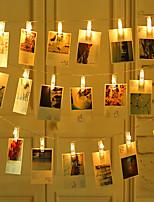 Недорогие -BRELONG® 5 метров Гирлянды 50 светодиоды SMD 0603 Тёплый белый Водонепроницаемый / Творчество / Для вечеринок Аккумуляторы AA 1шт