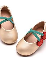 Недорогие -Девочки Обувь Искусственная кожа Весна & осень Удобная обувь / Детская праздничная обувь На плокой подошве для Дети Золотой / Черный / Розовый