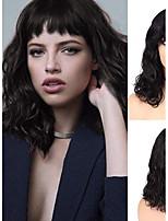 Недорогие -человеческие волосы Remy Полностью ленточные Лента спереди Парик Бразильские волосы Естественные волны Парик Ассиметричная стрижка 130% 150% 180% Плотность волос