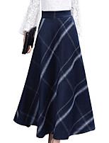 Недорогие -женские midi качели юбки - сплошной цвет
