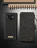 baratos -CaseMe Capinha Para Samsung Galaxy Note 9 Carteira / Porta-Cartão / Com Suporte Capa Proteção Completa Sólido Rígida PU Leather para Note 9