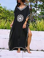 Недорогие -Жен. Черный Юбки Накидка Купальники - Геометрический принт С принтом Один размер