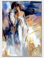 Недорогие -С картинкой Отпечатки на холсте - Абстракция День Святого Валентина Классика Modern