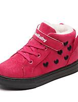 Недорогие -Мальчики / Девочки Обувь Замша Зима Ботильоны Ботинки На липучках для Дети Черный / Лиловый / Пурпурный