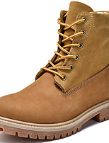 Недорогие -Жен. Наппа Leather Наступила зима Спортивные / На каждый день Ботинки На плоской подошве Сапоги до середины икры Коричневый