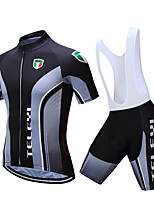 Недорогие -TELEYI С короткими рукавами Велокофты и велошорты-комбинезоны - Белый / Черный Велоспорт Быстровысыхающий Разные цвета / Эластичная