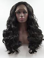 Недорогие -Синтетические кружевные передние парики Жен. Кудрявый Черный Средняя часть 180% Человека Плотность волос Искусственные волосы 12-16 дюймовый Регулируется / Жаропрочная / Эластичный Черный Парик