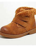 Недорогие -Мальчики / Девочки Обувь Свиная кожа Зима Зимние сапоги / Армейские ботинки Ботинки На липучках для Дети Черный / Верблюжий