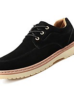Недорогие -Муж. Комфортная обувь Замша Осень На каждый день Кеды Дышащий Черный / Синий / Верблюжий