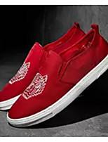 Недорогие -Муж. Комфортная обувь Полотно Лето Мокасины и Свитер Белый / Черный / Красный