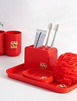 Недорогие -Стакан для зубных щеток Креатив Modern Пластик 1 комплект Зубная щетка и аксессуары
