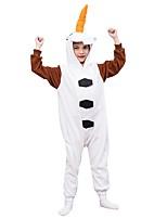 abordables -Pyjamas Kigurumi Bonhomme de neige Combinaison de Pyjamas Polaire Blanc Cosplay Pour Garçons et filles Pyjamas Animale Dessin animé Fête / Célébration Les costumes