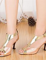 Недорогие -Жен. Обувь для латины Сатин На каблуках Планка Тонкий высокий каблук Персонализируемая Танцевальная обувь Розовый