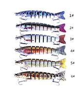 Недорогие -1 pcs Жесткая наживка / Рыболовная приманка / Рыболовные принадлежности Жесткая наживка Пластик / Углеродистая сталь Водонепроницаемый / Легкий и удобный / Прост в применении