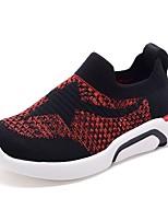 Недорогие -Девочки Обувь Сетка Наступила зима Удобная обувь Спортивная обувь Бант / Молнии для Дети Черный / Красный
