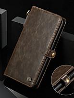 baratos -CaseMe Capinha Para Samsung Galaxy S8 Carteira / Porta-Cartão / Antichoque Capa Proteção Completa Sólido Rígida PU Leather para S8