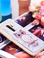 Недорогие -Кейс для Назначение SSamsung Galaxy S9 Защита от удара / Сияние и блеск Кейс на заднюю панель Сова / Сияние и блеск Мягкий ТПУ для S9