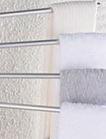 Недорогие -Держатель для полотенец Креатив Современный Алюминий 1шт 4-полосная доска На стену