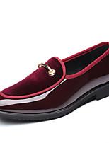Недорогие -Муж. Официальная обувь Искусственная кожа Наступила зима Классика / Английский Мокасины и Свитер Сохраняет тепло Черный / Красный / Синий / Для вечеринки / ужина
