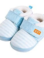 Недорогие -Мальчики / Девочки Обувь Хлопок Зима Удобная обувь / Обувь для малышей На плокой подошве для Ребёнок до года Серый / Синий / Розовый