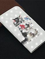 Недорогие -Кейс для Назначение Apple iPhone XR / iPhone XS Max Кошелек / Бумажник для карт / со стендом Чехол Кот Твердый Кожа PU для iPhone XS / iPhone XR / iPhone XS Max
