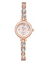 Недорогие -Жен. Нарядные часы Наручные часы Кварцевый Серебристый металл / Розовое золото Новый дизайн Повседневные часы Имитация Алмазный Аналоговый На каждый день Мода -  / Один год / Один год