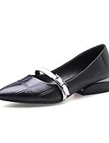 Недорогие -Жен. Наппа Leather Лето Обувь на каблуках На низком каблуке Черный / Красный