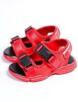 Недорогие -Мальчики / Девочки Обувь Синтетика Лето Удобная обувь / Обувь для малышей Сандалии для Дети (1-4 лет) Белый / Черный / Красный