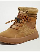 Недорогие -Мальчики / Девочки Обувь Свиная кожа Зима Армейские ботинки Ботинки На липучках для Дети Черный / Коричневый