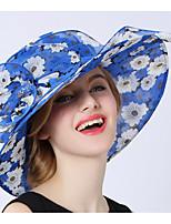 Недорогие -женская полиэфирная шляпа от солнца - принт