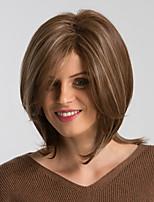 Недорогие -Парики из искусственных волос Жен. Естественный прямой Коричневый Стрижка боб Искусственные волосы 12 дюймовый Модный дизайн / Новое поступление / Природные волосы Коричневый Парик Средняя длина