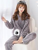 abordables -Adulte Pyjamas Kigurumi La paresse Combinaison de Pyjamas polaire Gris / Rose Cosplay Pour Femme Pyjamas Animale Dessin animé Fête / Célébration Les costumes