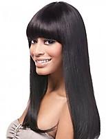 Недорогие -Необработанные натуральные волосы Лента спереди Парик Индийские волосы Прямой Парик 130% Плотность волос Жен. Средняя длина Парики из натуральных волос на кружевной основе