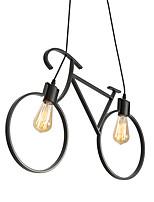 Недорогие -2-Light промышленные Люстры и лампы Рассеянное освещение Окрашенные отделки Металл Творчество 110-120Вольт / 220-240Вольт