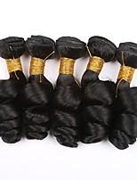 Недорогие -6 Связок Бразильские волосы Индийские волосы Свободные волны Не подвергавшиеся окрашиванию Натуральные волосы Подарки Косплей Костюмы Головные уборы 8-28 дюймовый Естественный цвет