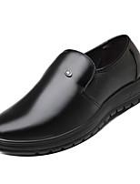 Недорогие -Муж. Комфортная обувь Полиуретан Осень Деловые Мокасины и Свитер Доказательство износа Черный