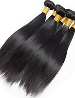 Недорогие -6 Связок Бразильские волосы Евро-Азиатские волосы Прямой 8A Натуральные волосы Необработанные натуральные волосы Подарки Косплей Костюмы Головные уборы 8-28 дюймовый Естественный цвет