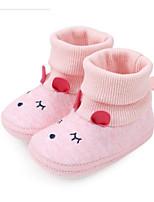 Недорогие -Мальчики / Девочки Обувь Хлопок Наступила зима Удобная обувь / Обувь для малышей Ботинки для Ребёнок до года Серый / Розовый / Светло-Зеленый