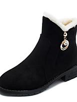 Недорогие -Жен. Полиуретан Зима На каждый день Ботинки На низком каблуке Сапоги до середины икры Черный / Кофейный