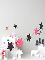baratos -Enfeites de Natal Férias Plástico Quadrada Festa Decoração de Natal
