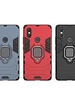 Недорогие -Кейс для Назначение Xiaomi Mi 8 SE Защита от удара / Кольца-держатели Кейс на заднюю панель Однотонный / броня Твердый ПК для Xiaomi Mi 8 SE