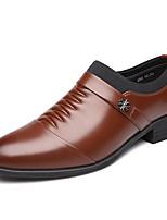 Недорогие -Муж. Комфортная обувь Микроволокно Зима На каждый день Мокасины и Свитер Дышащий Черный / Коричневый / Для вечеринки / ужина
