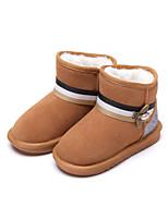 Недорогие -Девочки Обувь Замша Наступила зима Зимние сапоги Ботинки Бусины для Дети Черный / Серый / Коричневый