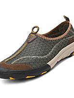 Недорогие -Муж. Комфортная обувь Сетка / Полиуретан Зима На каждый день Мокасины и Свитер Нескользкий Серый / Коричневый / Военно-зеленный