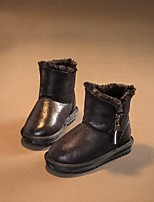 Недорогие -Девочки Обувь Синтетика Зима Удобная обувь / Зимние сапоги Ботинки для Дети / Для подростков Черный / Серый / Красный