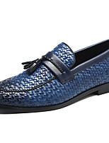 Недорогие -Муж. Официальная обувь Синтетика Весна & осень На каждый день / Английский Мокасины и Свитер Нескользкий Черный / Синий / Винный / Для вечеринки / ужина