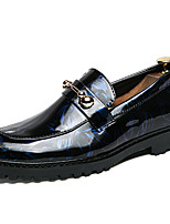 Недорогие -Муж. Официальная обувь Синтетика Весна & осень Деловые / Английский Мокасины и Свитер Нескользкий Черный / Синий / Винный